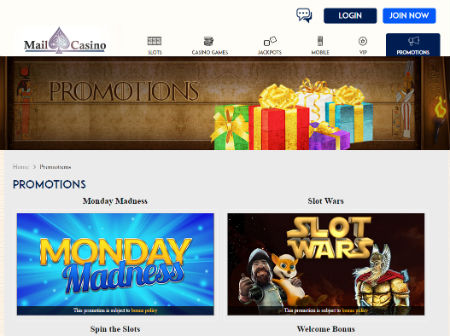 Mail Casino Mobile Slots