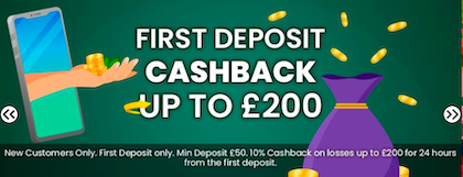 cash back welcome bonus